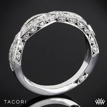 Platinum Tacori HT2528B Ribbon Half Eternity Diamond Wedding Ring | Whiteflash