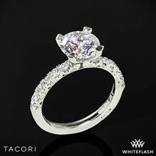 Platinum Tacori HT2545 Petite Crescent Scalloped Millgrain Diamond Engagement Ring | Whiteflash