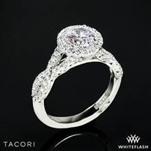 Platinum Tacori HT2549 Petite Crescent Twisted Diamond Halo Engagement Ring | Whiteflash