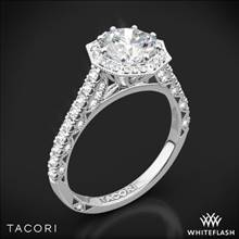Platinum Tacori HT2555RD Petite Crescent Halo Diamond Engagement Ring | Whiteflash