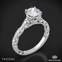 Platinum Tacori HT2558RD Petite Crescent Diamond Engagement Ring | Whiteflash