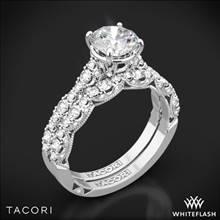 Platinum Tacori HT2558RD Petite Crescent Diamond Wedding Set | Whiteflash