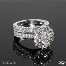 Platinum Tacori HT2605RD95 RoyalT Bloom Diamond Wedding Set | Whiteflash