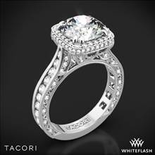 Platinum Tacori HT2607RD10 RoyalT Cushion-Style Bloom Diamond Engagement Ring for 3.5ct Center | Whiteflash
