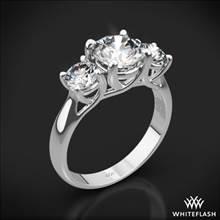 Platinum Trellis 3 Stone Engagement Ring (0.50ctw ACA side stones included) | Whiteflash