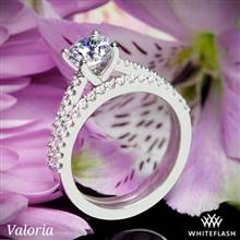 Platinum Valoria Cathedral Diamond Wedding Set | Whiteflash