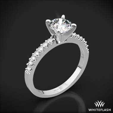 "Platinum ""Valoria"" Petite Diamond Engagement Ring"
