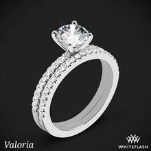 Platinum Valoria Petite Pave Diamond Wedding Set | Whiteflash