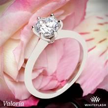 Platinum Valoria Petite Six Prong Solitaire Engagement Ring | Whiteflash
