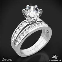 Platinum Vatche 1020 6-Prong Channel Diamond Diamond Wedding Set | Whiteflash