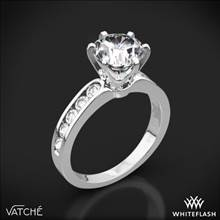 Platinum Vatche 1020 6-Prong Channel Diamond Engagement Ring | Whiteflash