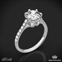Platinum Vatche 1054 Swan French Pave Diamond Engagement Ring | Whiteflash