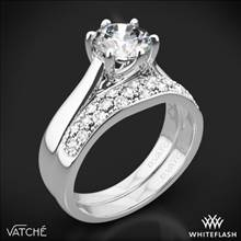Platinum Vatche 119 Royal Crown Diamond Wedding Set | Whiteflash