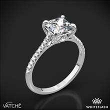 Platinum Vatche 1506 Inara Pave Diamond Engagement Ring for Princess | Whiteflash
