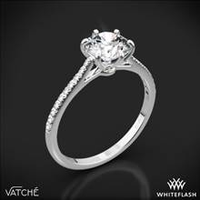Platinum Vatche 1514 Felicity Pave Diamond Engagement Ring | Whiteflash