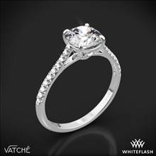 Platinum Vatche 1515 Inara Pave Diamond Engagement Ring | Whiteflash