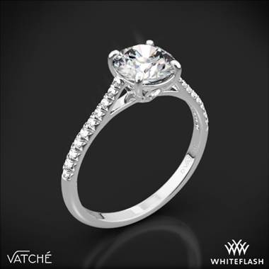 Platinum Vatche 1515 Inara Pave Diamond Engagement Ring
