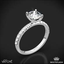 Platinum Vatche 1533 Charis Pave Diamond Engagement Ring | Whiteflash
