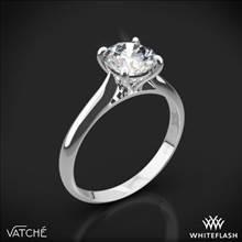 Platinum Vatche 187 Caroline Solitaire Engagement Ring | Whiteflash