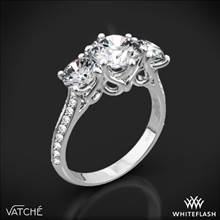 Platinum Vatche 324 Swan Three Stone Engagement Ring(0.50ctw ACA side stones included) | Whiteflash