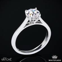 Platinum Vatche U-100 Traditional Round Solitaire Engagement Ring | Whiteflash