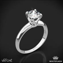 Platinum Vatche U-114 5th Avenue Solitaire Engagement Ring | Whiteflash