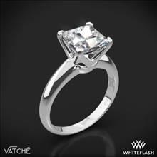 Platinum Vatche U-114 5th Avenue Solitaire Engagement Ring for Princess   Whiteflash