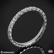 Platinum Verragio ENG-0350W Full Eternity Diamond Wedding Ring | Whiteflash
