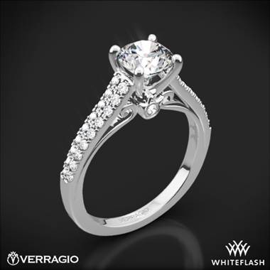 Platinum Verragio ENG-0382R Double Pave Diamond Engagement Ring
