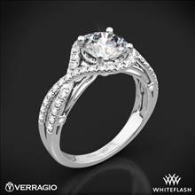 Platinum Verragio ENG-0405 4 Prong Bypass Diamond Engagement Ring | Whiteflash