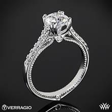 Platinum Verragio ENG-0414R Dual Claw Diamond Engagement Ring | Whiteflash