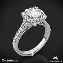 Platinum Verragio ENG-0424CU Split Claw Halo Diamond Engagement Ring | Whiteflash