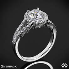 Platinum Verragio INS-7010R Split Shank Halo Diamond Engagement Ring | Whiteflash