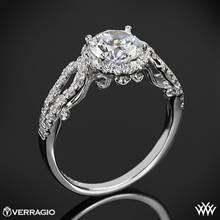 Platinum Verragio INS-7042R 4 Prong Round Halo Diamond Engagement Ring | Whiteflash