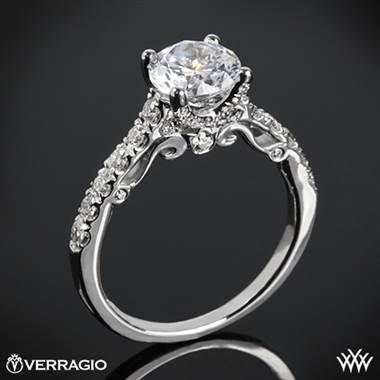 Platinum Verragio INS-7054 X-Prong Pave Diamond Engagement Ring