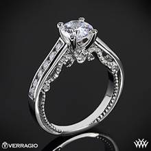 Platinum Verragio INS-7064R Beaded Channel-Set Diamond Engagement Ring | Whiteflash