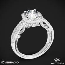 Platinum Verragio INS-7069CU Diamond Halo Engagement Ring | Whiteflash