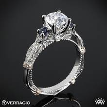 Platinum Verragio Parisian CL-DL-129R Twisted Sapphire 3 Stone Engagement Ring | Whiteflash