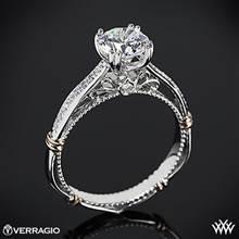 Platinum Verragio Parisian D-101S Diamond Engagement Ring with Rose Gold Wraps | Whiteflash