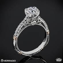 Platinum Verragio Parisian D-103S Diamond Engagement Ring with Rose Gold Wraps | Whiteflash