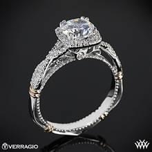 Platinum Verragio Parisian D-106CU Halo Diamond Engagement Ring with Rose Gold Wraps | Whiteflash