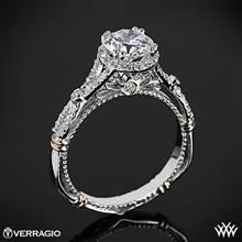 Platinum Verragio Parisian D-109R Halo Diamond Engagement Ring with Rose Gold Wraps | Whiteflash