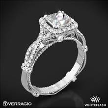 Platinum Verragio Parisian DL-106P Halo Diamond Engagement Ring for Princess | Whiteflash