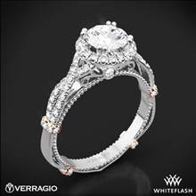Platinum Verragio Parisian DL-106R Halo Diamond Engagement Ring with Rose Gold Wraps | Whiteflash