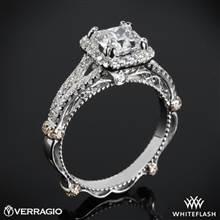 Platinum Verragio Parisian DL-107CU Halo Diamond Engagement Ring with Rose Gold Wraps   Whiteflash