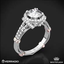 Platinum Verragio Parisian DL-117R Halo Diamond Engagement Ring with Rose Gold Wraps | Whiteflash
