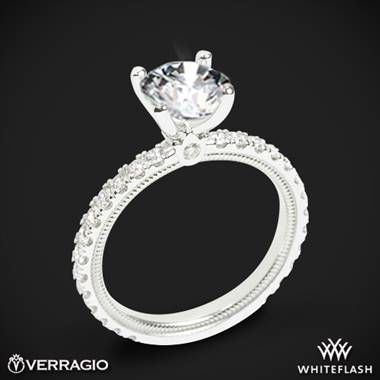 Platinum Verragio Tradition TR180R4 Diamond 4 Prong Engagement Ring