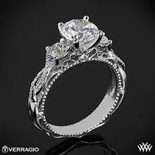 Platinum Verragio Venetian Lace AFN-5013R-4 Three Stone Engagement Ring | Whiteflash