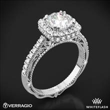 Platinum Verragio Venetian Lace AFN-5053CU-4 Halo Diamond Engagement Ring | Whiteflash