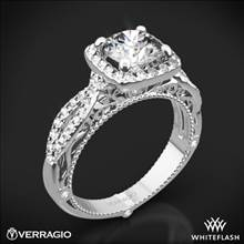 Platinum Verragio Venetian Lido AFN-5005CU-2 Cushion Halo Diamond Engagement Ring | Whiteflash